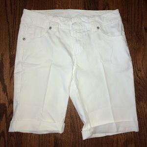 Brand New White Denim Stretch Shorts!